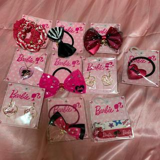 バービー(Barbie)のバービー  ヘアゴム  シュシュ イヤリング barbie コラボ ピアス(ヘアゴム/シュシュ)