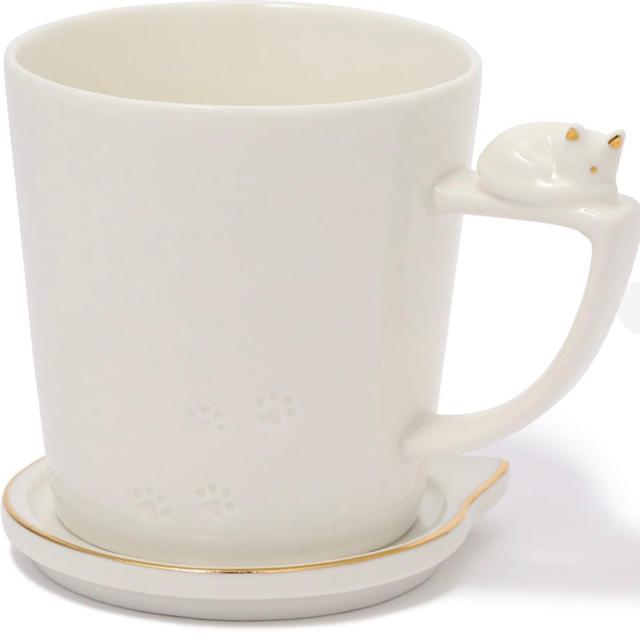 Francfranc(フランフラン)のFrancfranc  キャットフィギュアマグ インテリア/住まい/日用品のキッチン/食器(グラス/カップ)の商品写真