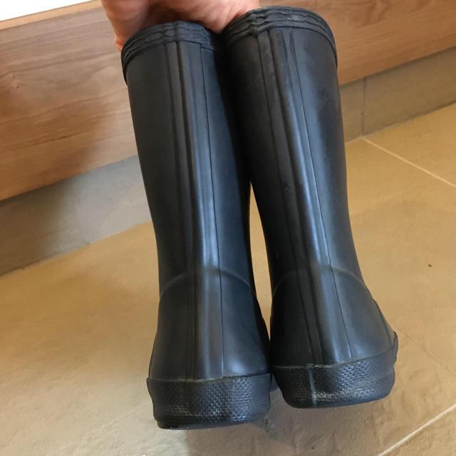 HUNTER(ハンター)のHUNTER レインブーツ 長靴 キッズ ネイビー 17センチくらい キッズ/ベビー/マタニティのキッズ靴/シューズ(15cm~)(長靴/レインシューズ)の商品写真