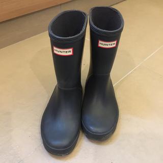 ハンター(HUNTER)のHUNTER レインブーツ 長靴 キッズ ネイビー 17センチくらい(長靴/レインシューズ)
