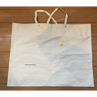 ミナペルホネン(mina perhonen)のミナペルホネン ショップバッグ 白(ショップ袋)