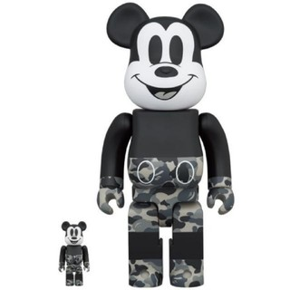 メディコムトイ(MEDICOM TOY)のBape × Mickey Mouse BE@RBRICK 100% & 400(その他)