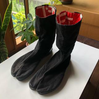 ソウソウ(SOU・SOU)のsousou 足袋 貼付まつり足袋 10枚小鉤 濡羽色×桟 25.0cm(スニーカー)