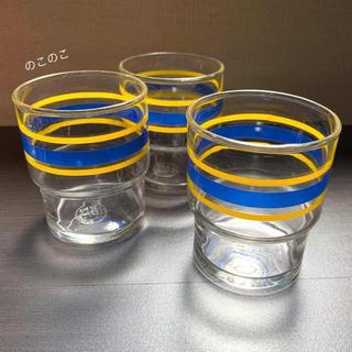 トウヨウササキガラス(東洋佐々木ガラス)の昭和レトロ ボーダーグラス 東洋佐々木ガラス(グラス/カップ)