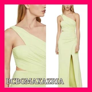 ビーシービージーマックスアズリア(BCBGMAXAZRIA)の【BCBGMAXAZRIA】非対称ネックサイドカットアウトドレス(ロングドレス)