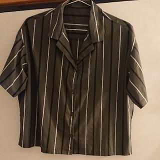 ジーユー(GU)のGu ☆  ストライプシャツ  半袖(シャツ/ブラウス(半袖/袖なし))