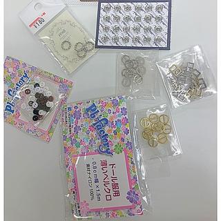 バービー(Barbie)のドール服 材料セット ボタン ベルトバックル マジックテープ スナップボタン(各種パーツ)
