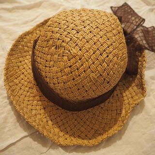 カスタネ(Kastane)のjumello 麦わら帽子(麦わら帽子/ストローハット)