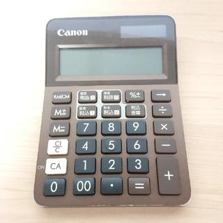 キヤノン(Canon)の電卓 canon 計算機 計算器 キャノン 茶色 コンパクト ブラウン 黒色(その他)