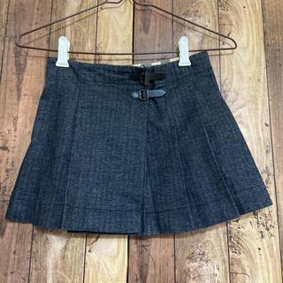 バーバリー(BURBERRY)の未使用品 バーバリー チャコールグレー プリーツスカート 130 (スカート)