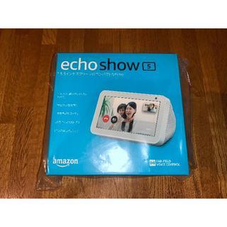 エコー(ECHO)の[新品未開封] Amazon Echo Show 5 サンドストーン 送料込み(スピーカー)
