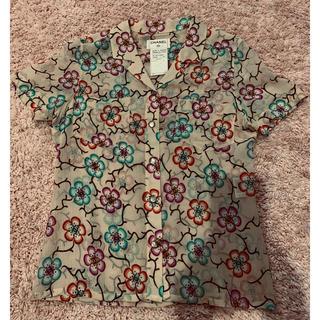 シャネル(CHANEL)の正規品 美品 CHANEL 花柄 ココロゴが 可愛い ブラウス (シャツ/ブラウス(半袖/袖なし))