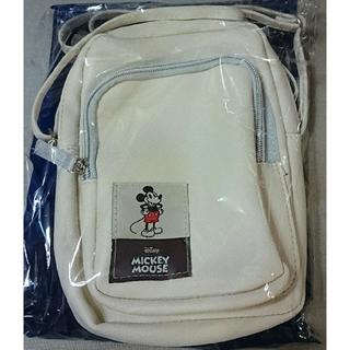 ミッキーマウス - 未使用/ミッキーマウス スマホも長財布も入るミニショルダーバッグ