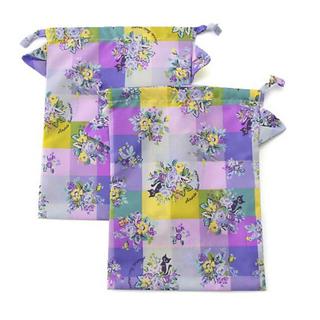 アナスイミニ(ANNA SUI mini)の新品☆アナスイミニ  猫ちゃん巾着 2枚セット☆ギフトラッピング済み(ランチボックス巾着)