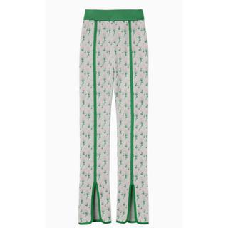 マメ(mame)のmame Pedicel Knit Pants グリーン パンツ(カジュアルパンツ)