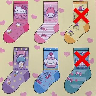 サンリオ - 新品◡̈⃝♡ベビー  キッズサンリオ キャラクター靴下 6足セット 靴下①