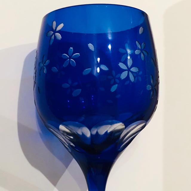 ハローキティ(ハローキティ)のハローキティ切子グラス2つセット インテリア/住まい/日用品のキッチン/食器(グラス/カップ)の商品写真