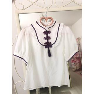 アマベル(Amavel)のチャイナ風ブラウス(シャツ/ブラウス(半袖/袖なし))