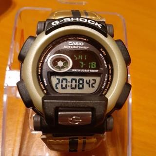 Gショック ゴールド 合成皮バンド(腕時計(デジタル))