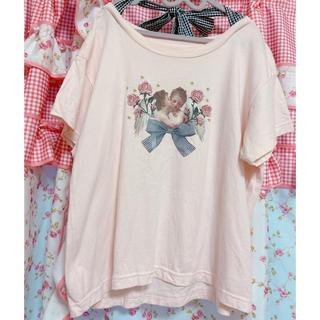Bubbles - 天使 名画 ロング Tシャツ バブルストップス Tシャツ カットソー