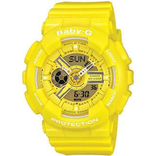 ベビージー(Baby-G)のCASIO G-SHOCK 腕時計 baby-G yellow(腕時計(デジタル))