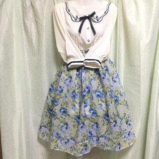 アクシーズファム(axes femme)の花柄 スカート(ひざ丈スカート)