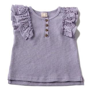 プティマイン(petit main)のプティマイン 120 肩フリルテレコTシャツ(Tシャツ/カットソー)