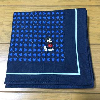 ディズニー(Disney)のミッキーマウス ハンカチ 青(ハンカチ/ポケットチーフ)