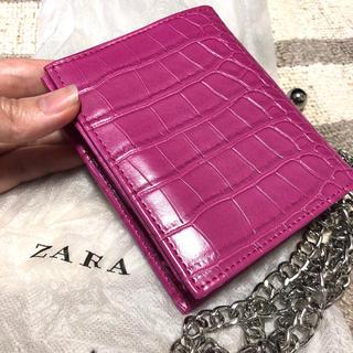 ザラ(ZARA)のZARA ザラ 財布 ウォレット ミニウォレット クロコ(財布)