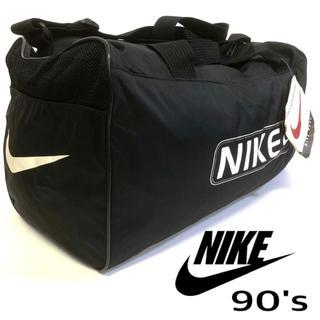ナイキ(NIKE)の90's デッドストックNIKE ショルダーバッグ ブラック デカロゴ】(ドラムバッグ)