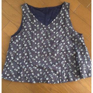 ピンクアドべ(PINK ADOBE)のブラウス 花柄 ノースリーブ ネイビー (シャツ/ブラウス(半袖/袖なし))
