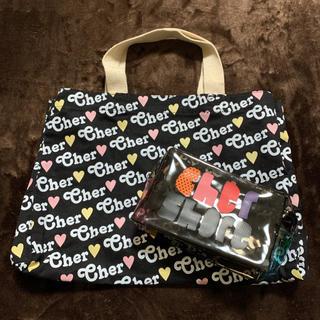 シェル(Cher)の未使用品 cher シェル トートバッグ M & ロゴ入り ビニールポーチ(エコバッグ)