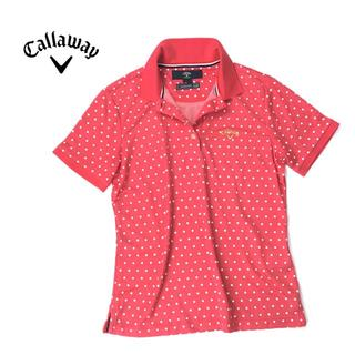 美品★callaway キャロウェイ ストレッチ◎速乾・吸汗 ドット柄ポロシャツ