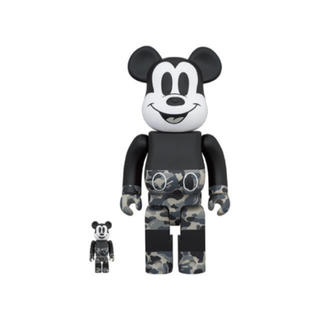 メディコムトイ(MEDICOM TOY)のBE@RBRICK BAPE®️MICKEY MOUSE 100% & 400%(その他)