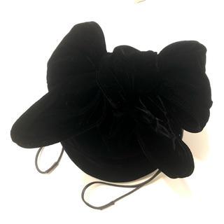 LUDLOW ビッグリボン 巾着 ブラック