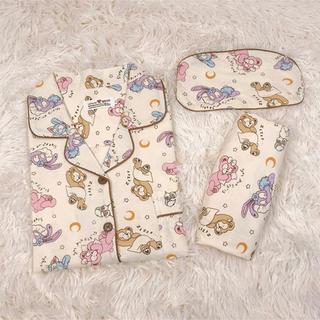 ダッフィー(ダッフィー)の日本未発売 ダッフィーフレンズ パジャマ ルームウェア アイマスク付き Lサイズ(ルームウェア)