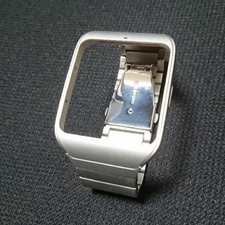 ソニー(SONY)のSony smartwatch3用ベルト メタルシルバーSWR510M S(その他)