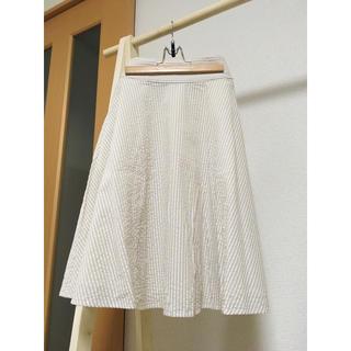 イーハイフンワールドギャラリーボンボン(E hyphen world gallery BonBon)のストライプ柄スカート(ひざ丈スカート)