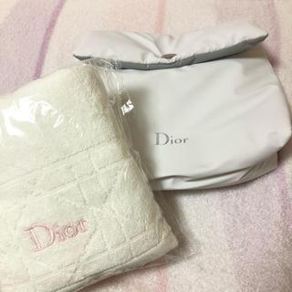 ディオール(Dior)のDiorノベルティー ポーチ・タオルセット(タオル/バス用品)