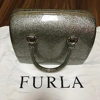 フルラ(Furla)のFURLA キャンディバッグ シルバーラメ(ハンドバッグ)