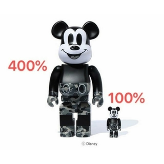 BE@RBRICK BAPE®MICKEY MOUSE 100% & 400%(その他)