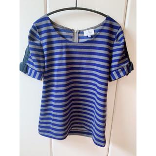 ランバンオンブルー(LANVIN en Bleu)のLANVIN EN BLEU / ランバンオンブルー ボーダーTシャツ38(カットソー(半袖/袖なし))