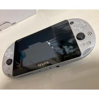 プレイステーション(PlayStation)の♦︎美品、希少♦︎PS vita シルバー 箱あり 専用 カバー ケース付き(携帯用ゲーム機本体)