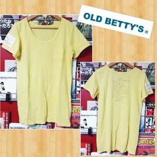 オールドベティーズ(OLD BETTY'S)のOLD BETTY'S オールドベティーズ Tシャツ 超美品 日本製 胸ポケ(Tシャツ(半袖/袖なし))