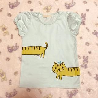 franche lippee - 【110センチ】フランシュリッペ ラ ペチット ☆ のびねこ 半袖Tシャツ