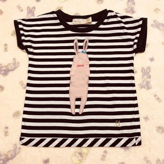 franche lippee - 【110センチ】フランシュリッペ ラ ペチット ☆ うさぎ 半袖Tシャツ