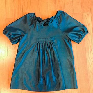スーナウーナ(SunaUna)のスーナウーナ・ピーコックグリーンのブラウスチュニック(シャツ/ブラウス(半袖/袖なし))