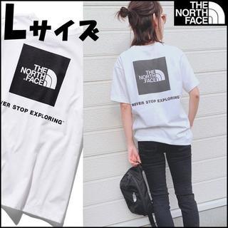 ザノースフェイス(THE NORTH FACE)の送料込★Lサイズ★ノースフェイス スクエア ロゴ Tシャツ 白 2(Tシャツ(半袖/袖なし))