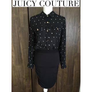 ジューシークチュール(Juicy Couture)のジューシークチュール♡パール柄シャツ♡ワンピース(ひざ丈ワンピース)