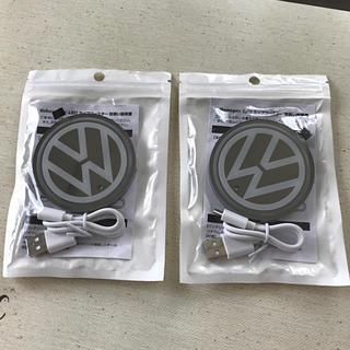 フォルクスワーゲン(Volkswagen)のvw LEDコースター(車内アクセサリ)